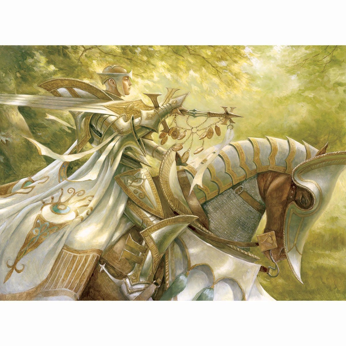 Knight of the Skyward Eye Print - Print - Original Magic Art - Accessories for Magic the Gathering and other card games