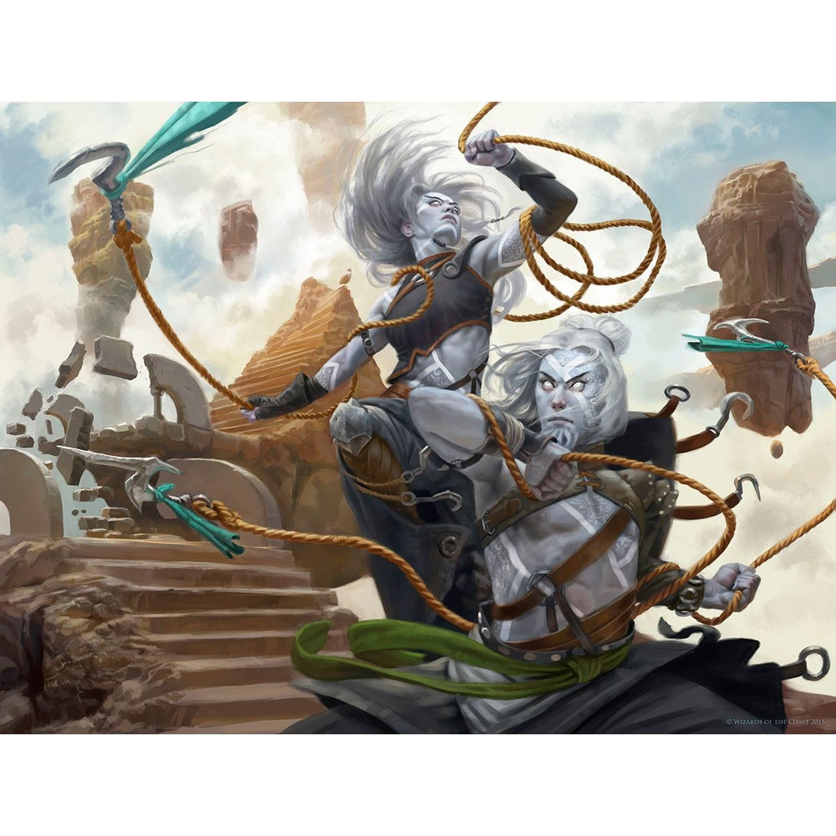 Kor Entanglers Print - Print - Original Magic Art - Accessories for Magic the Gathering and other card games