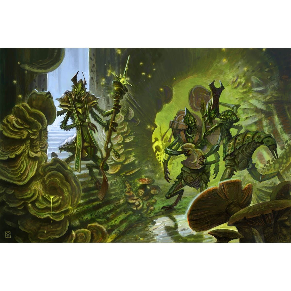 Kraul Foragers Print - Print - Original Magic Art - Accessories for Magic the Gathering and other card games