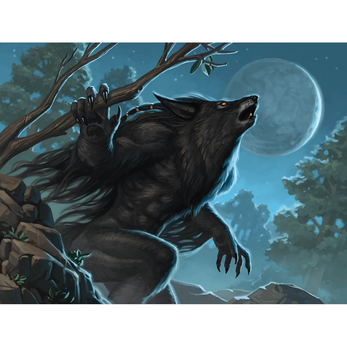 Krallenhorde Howler Print - Print - Original Magic Art - Accessories for Magic the Gathering and other card games