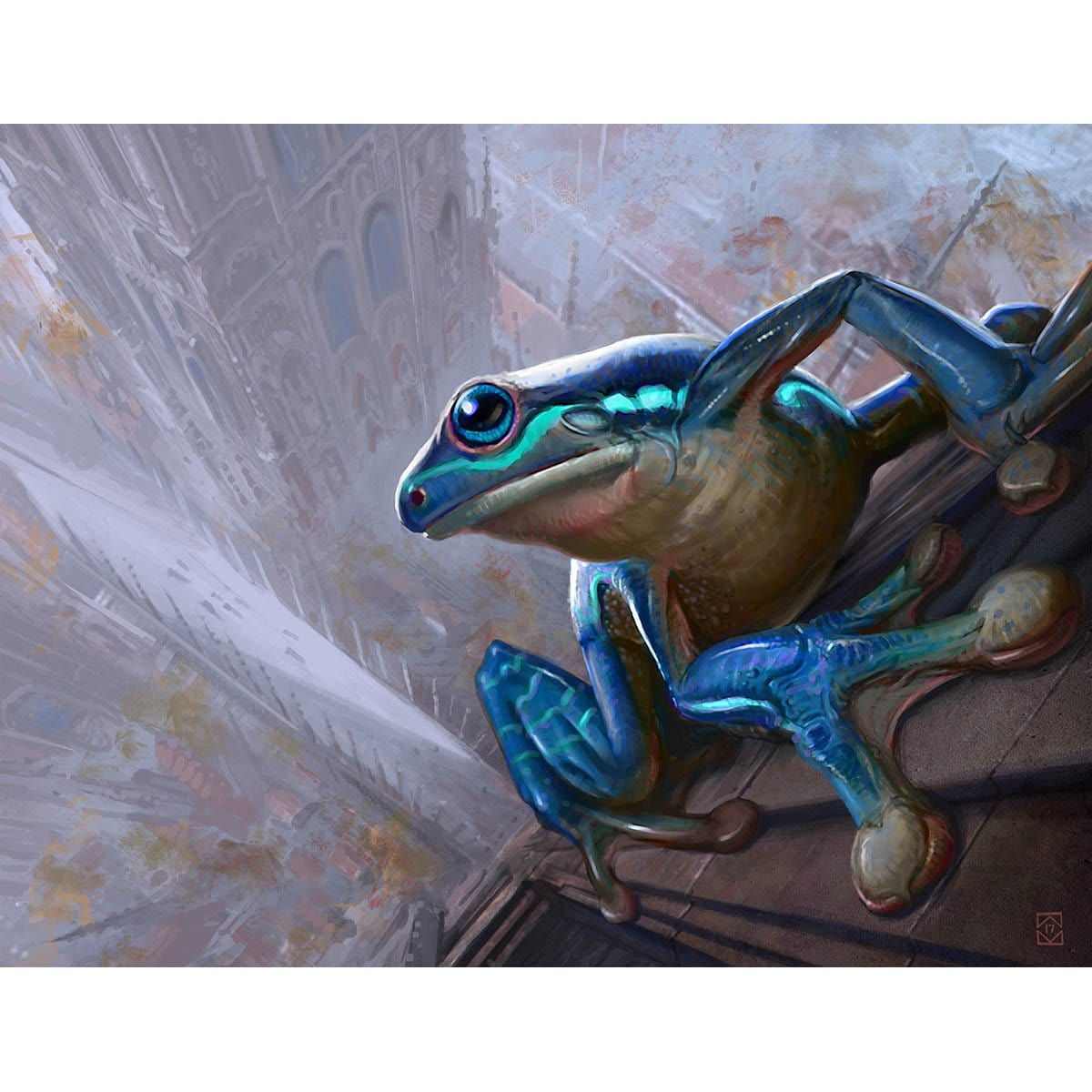 Leapfrog Print - Print - Original Magic Art - Accessories for Magic the Gathering and other card games