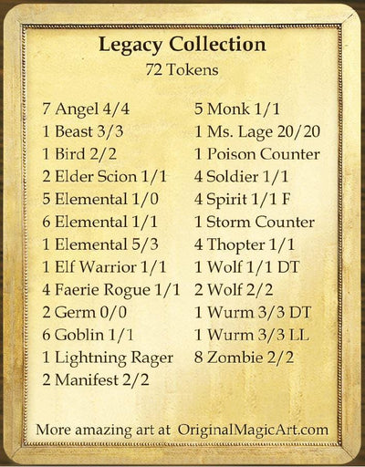 Legacy Token Collection - Token Set - Original Magic Art - Accessories for Magic the Gathering and other card games