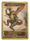 Legendary Dragon Token (4/4-F) by Richard Wynne Keene - Token - Original Magic Art - Accessories for Magic the Gathering and other card games