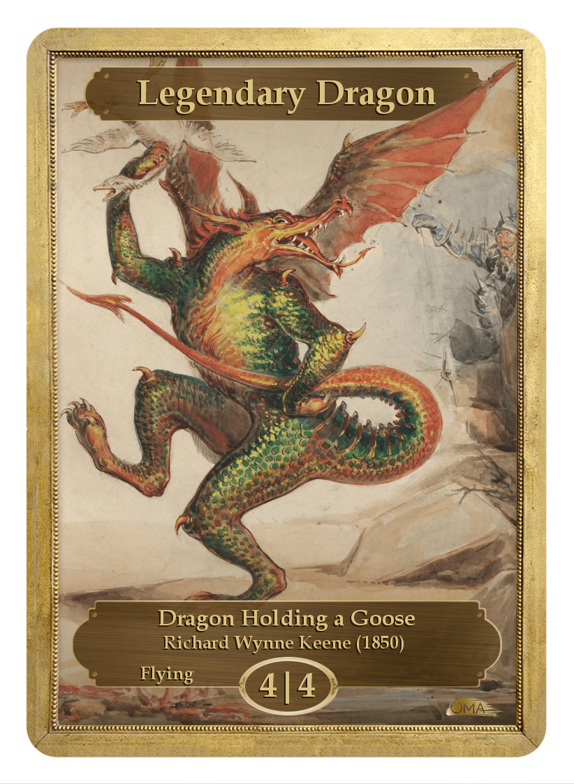 Legendary Dragon Token (4/4-F) by Richard Wynne Keene