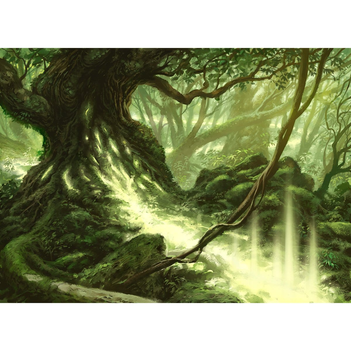 Leyline of Vitality Print - Print - Original Magic Art - Accessories for Magic the Gathering and other card games