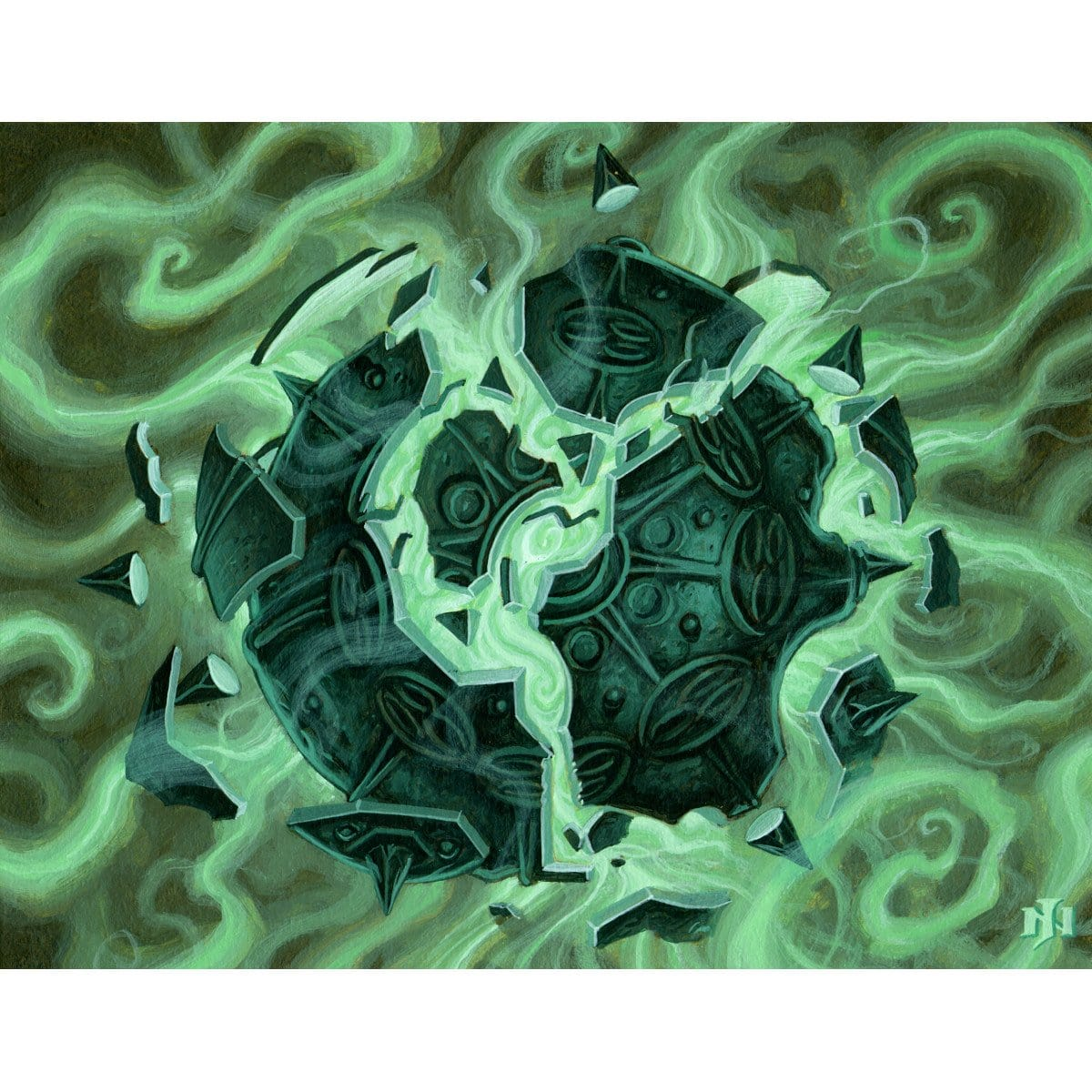 Lifespark Spellbomb Print - Print - Original Magic Art - Accessories for Magic the Gathering and other card games