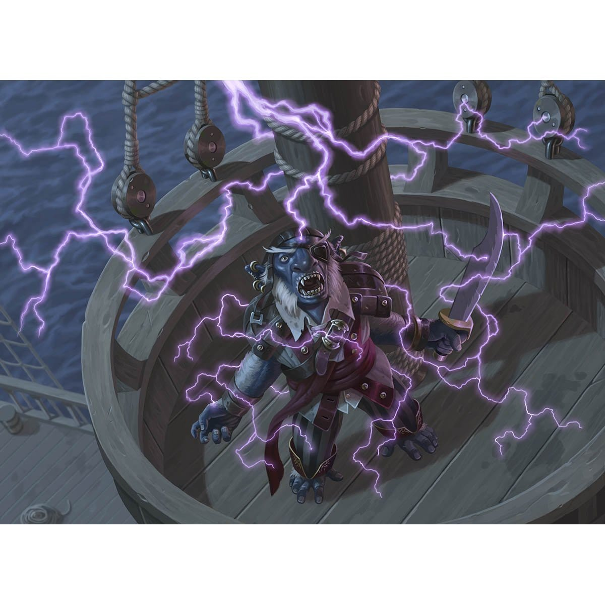 Lightning Strike Print - Print - Original Magic Art - Accessories for Magic the Gathering and other card games