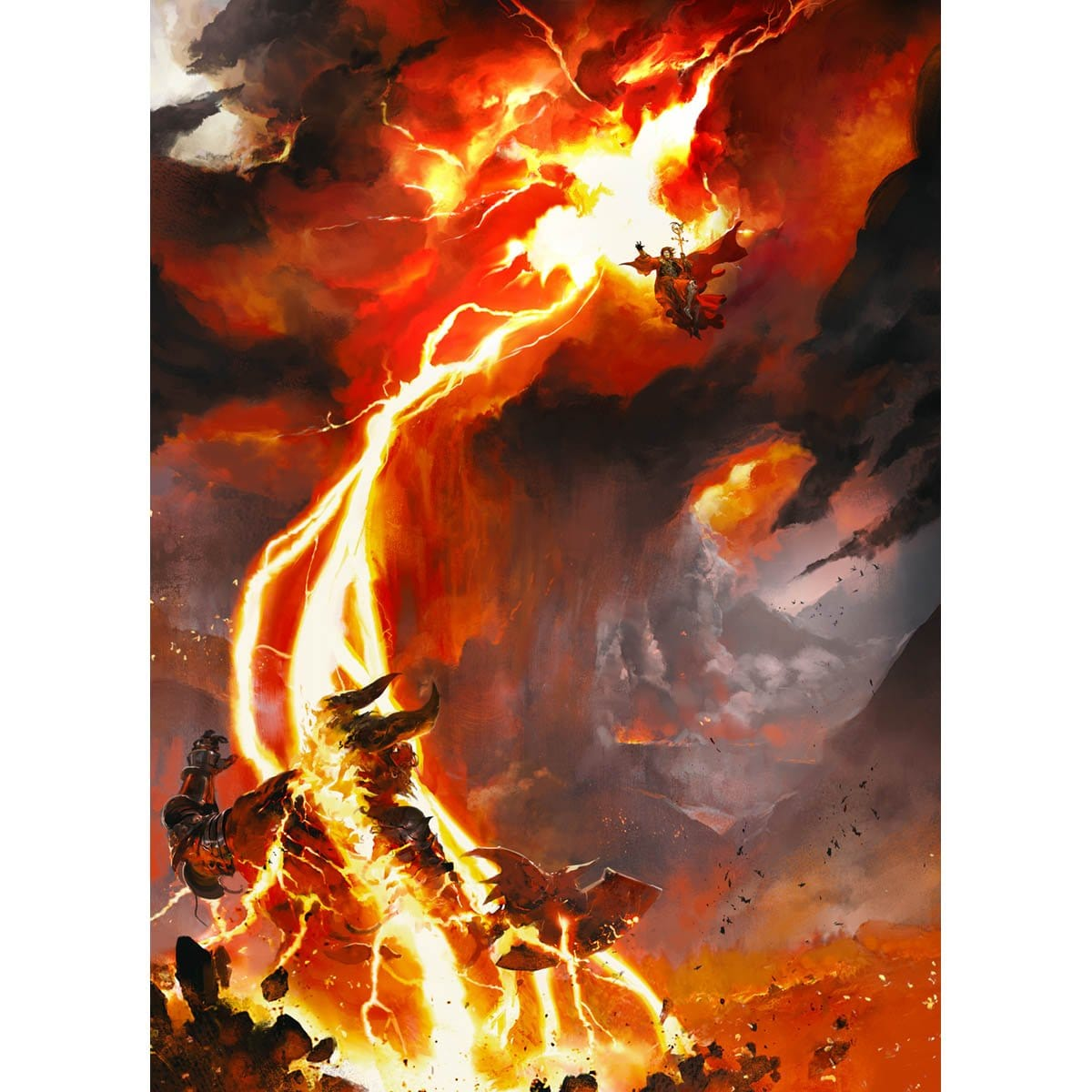 Lightning Bolt Print - Print - Original Magic Art - Accessories for Magic the Gathering and other card games