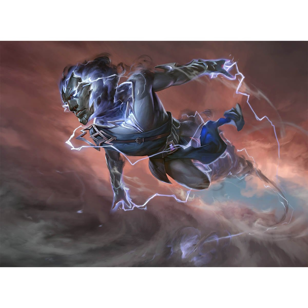 Lightning Stormkin Print - Print - Original Magic Art - Accessories for Magic the Gathering and other card games