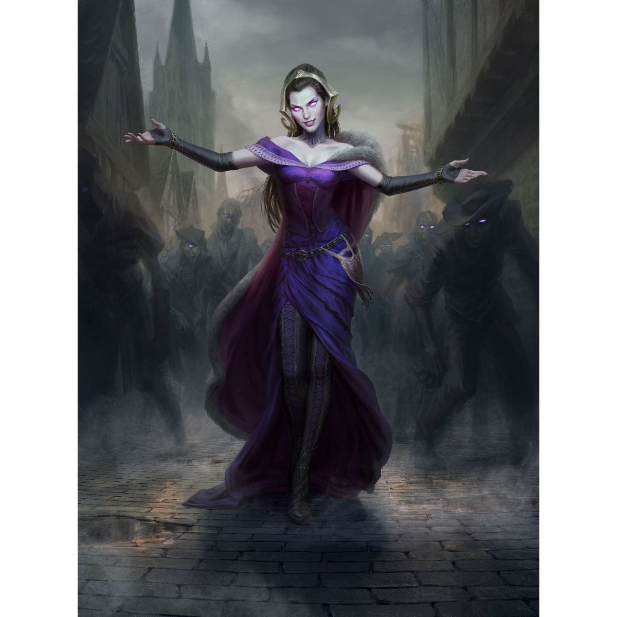 Liliana, the Last Hope Print - Print - Original Magic Art - Accessories for Magic the Gathering and other card games