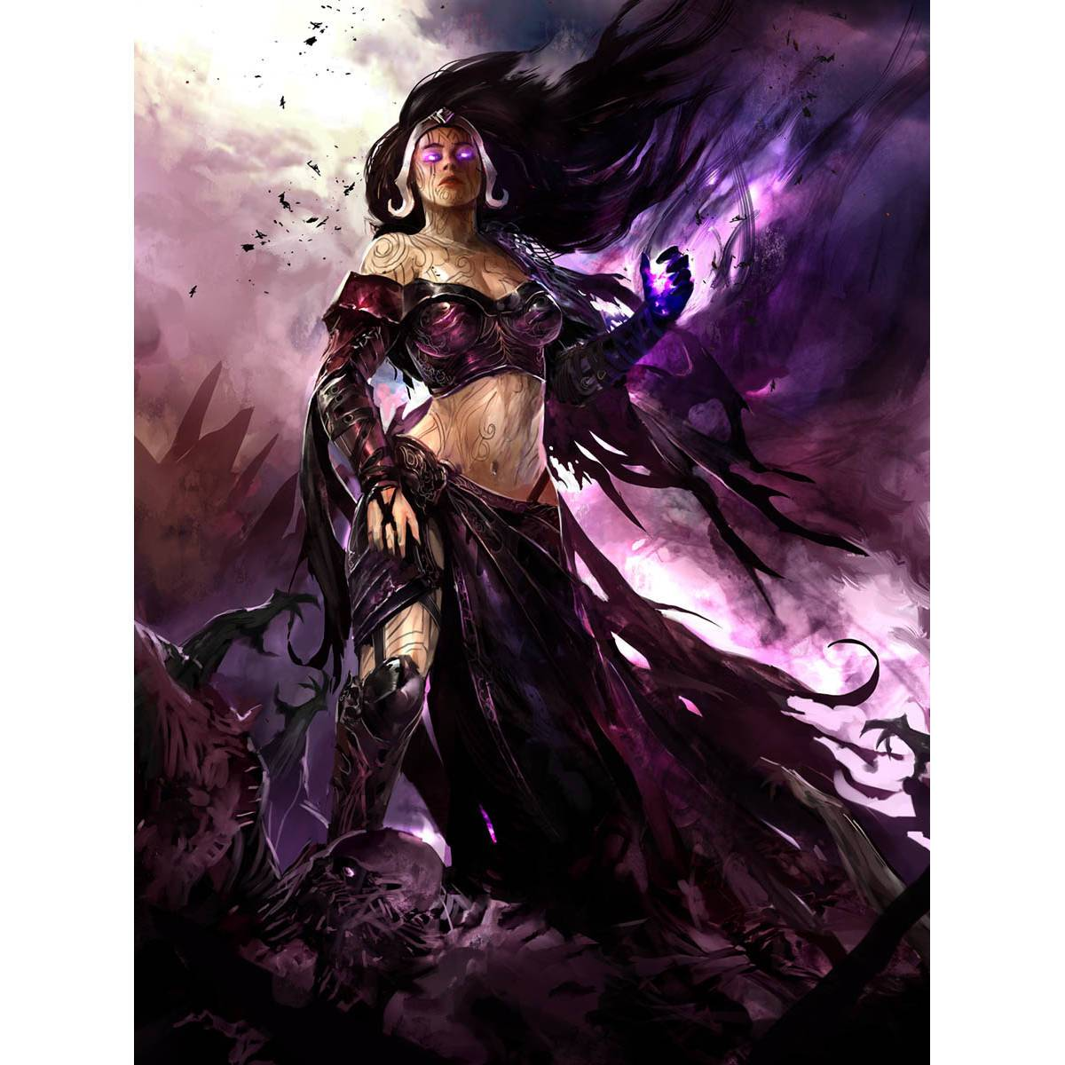 Liliana Vess Print - Print - Original Magic Art - Accessories for Magic the Gathering and other card games