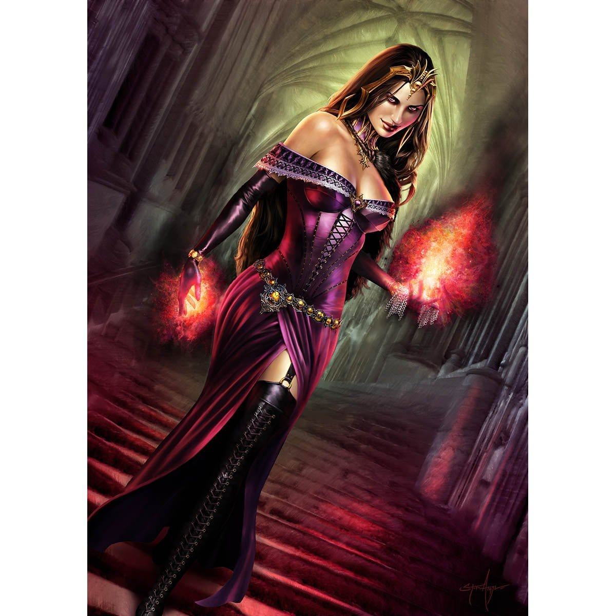 Liliana of the Veil Print