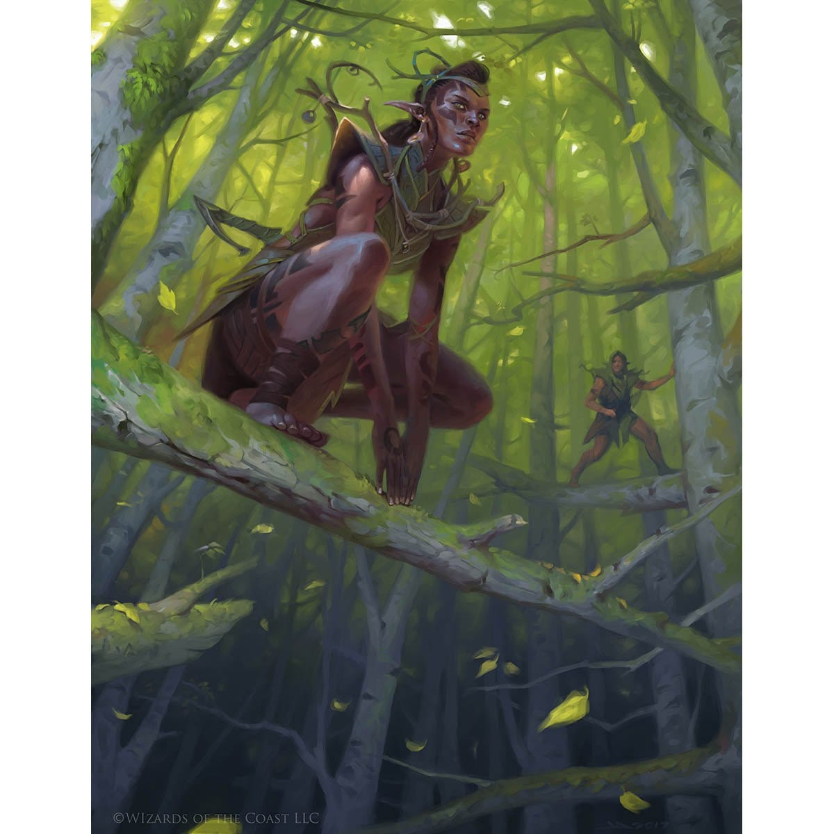 Llanowar Elves Print - Print - Original Magic Art - Accessories for Magic the Gathering and other card games