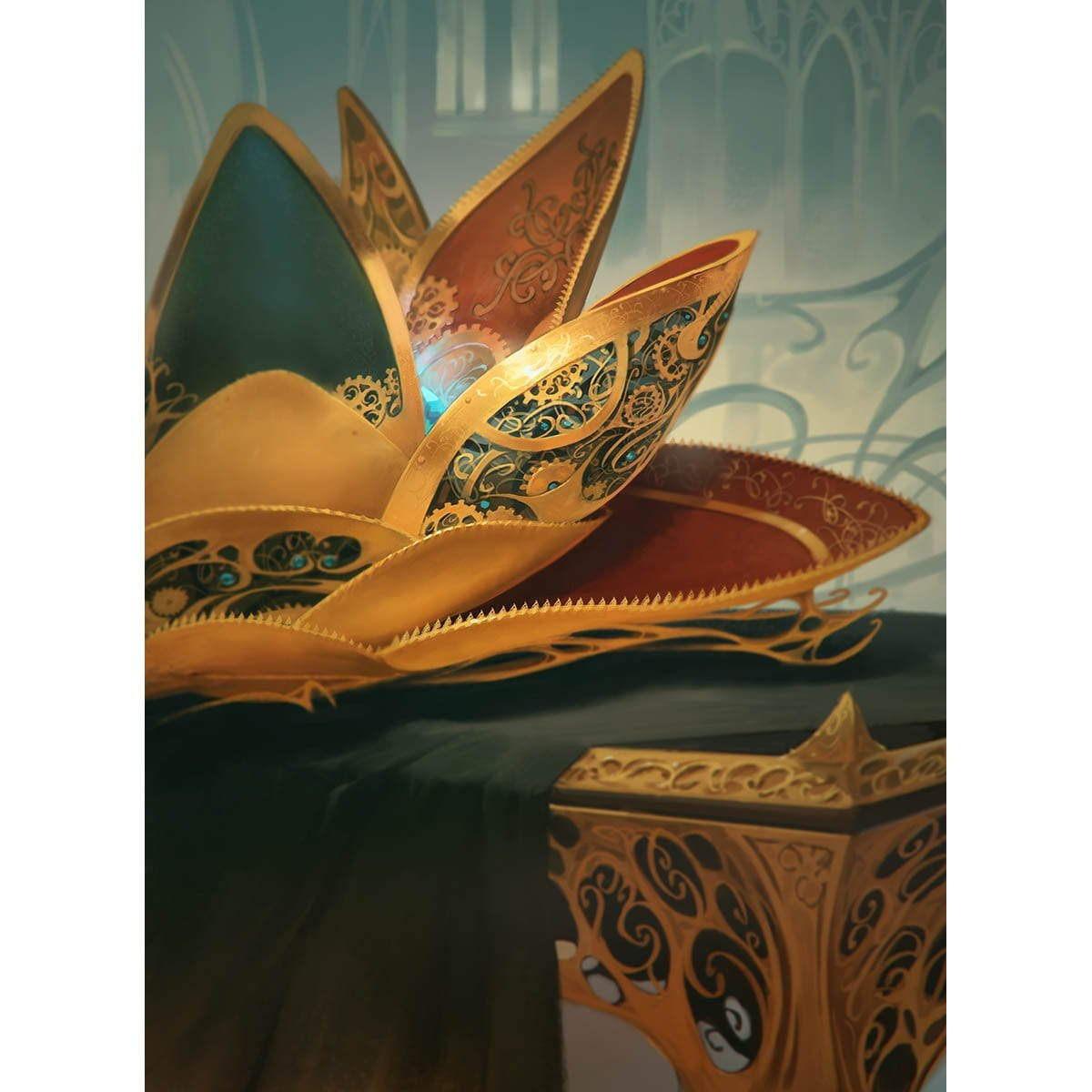 Lotus Petal Print - Print - Original Magic Art - Accessories for Magic the Gathering and other card games