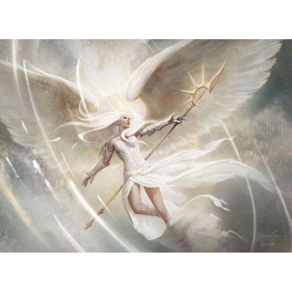 Luminous Angel Print - Print - Original Magic Art - Accessories for Magic the Gathering and other card games