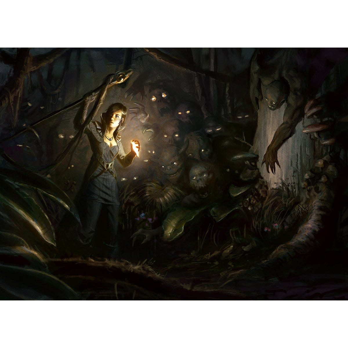 Lurking Predators Print - Print - Original Magic Art - Accessories for Magic the Gathering and other card games