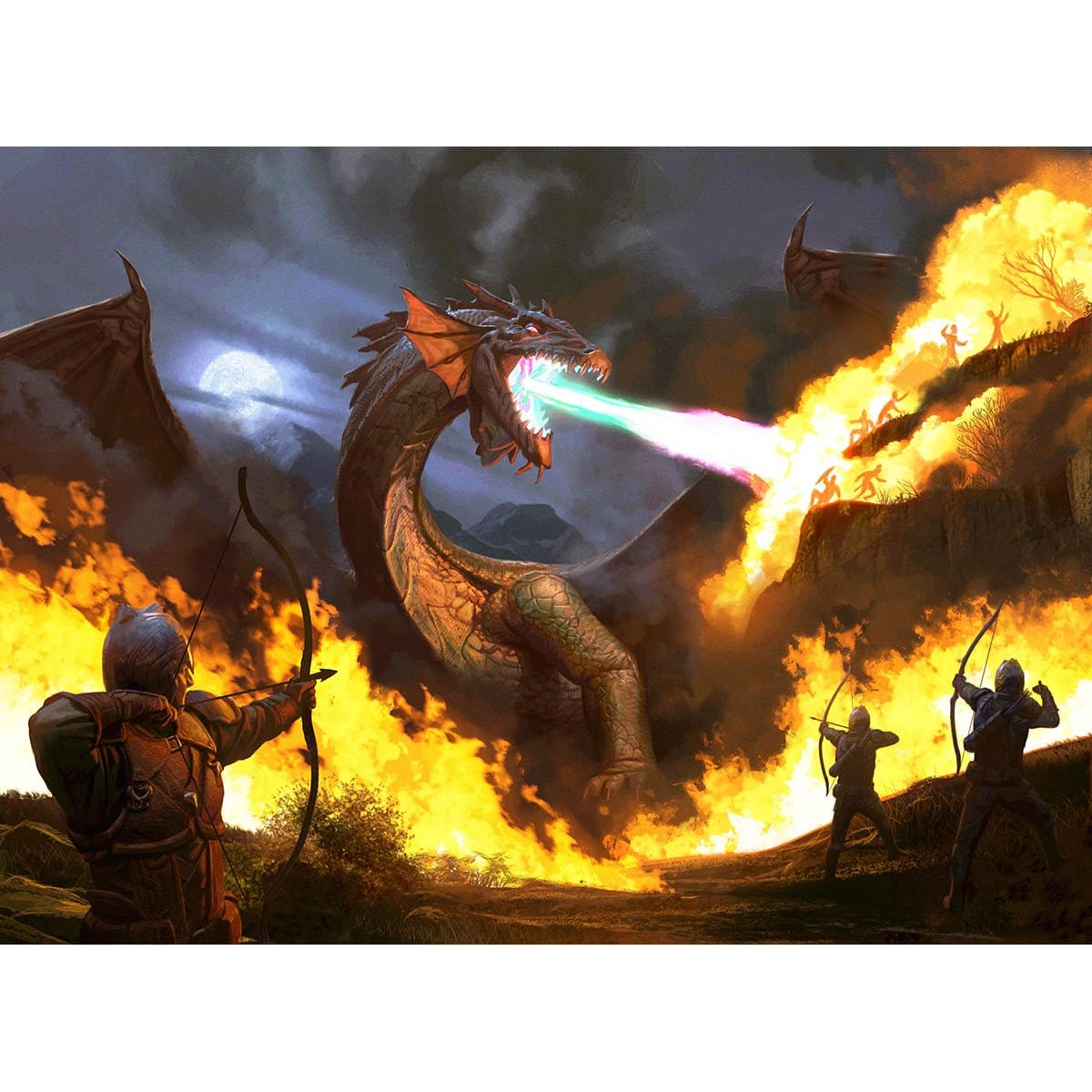 Mana-Charged Dragon Print - Print - Original Magic Art - Accessories for Magic the Gathering and other card games