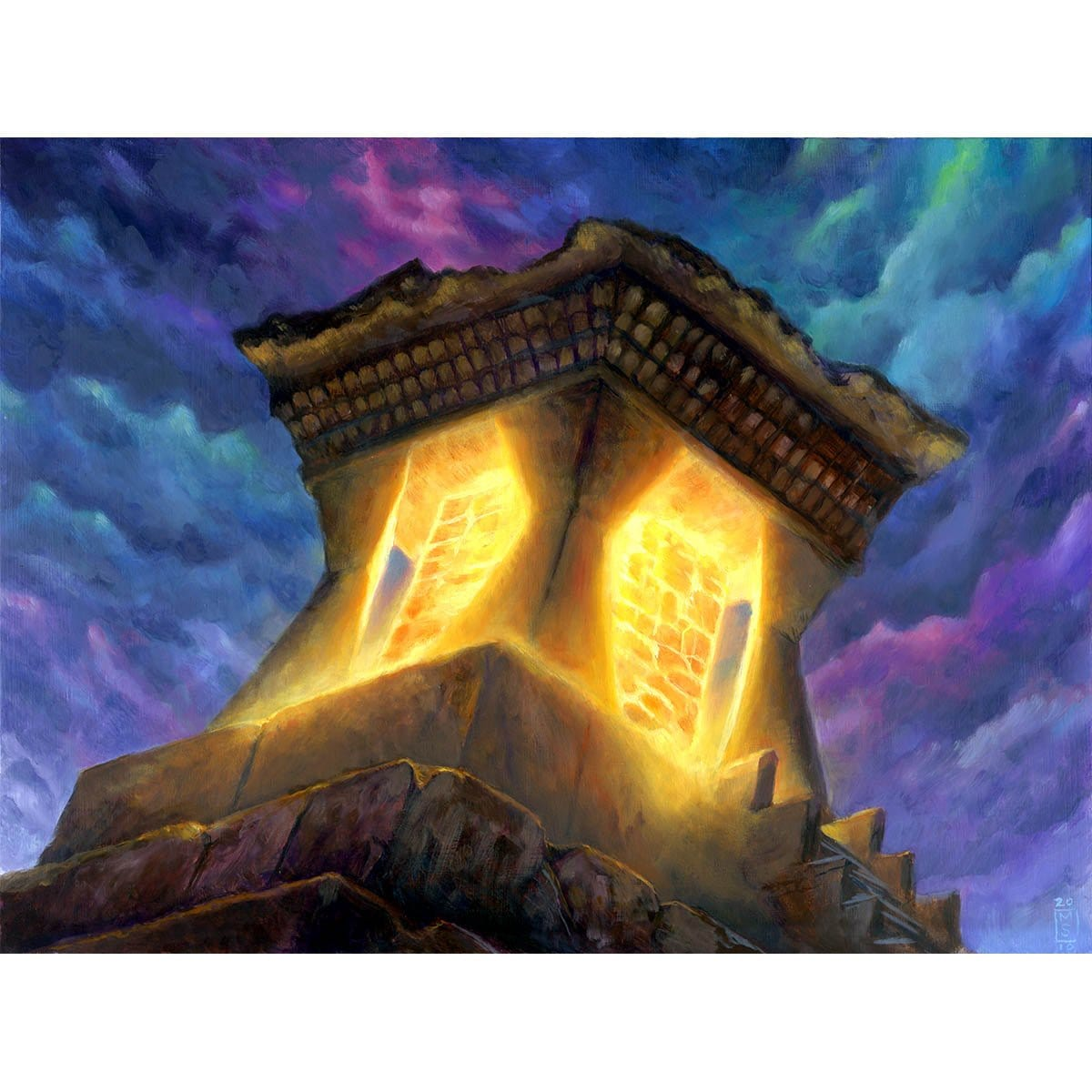 Mana Crypt Print - Print - Original Magic Art - Accessories for Magic the Gathering and other card games