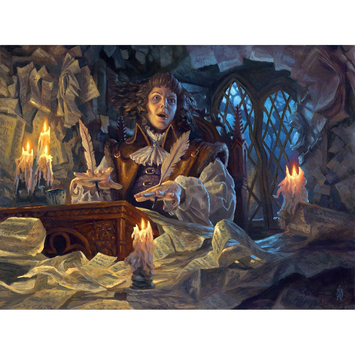 Manic Scribe Print - Print - Original Magic Art - Accessories for Magic the Gathering and other card games