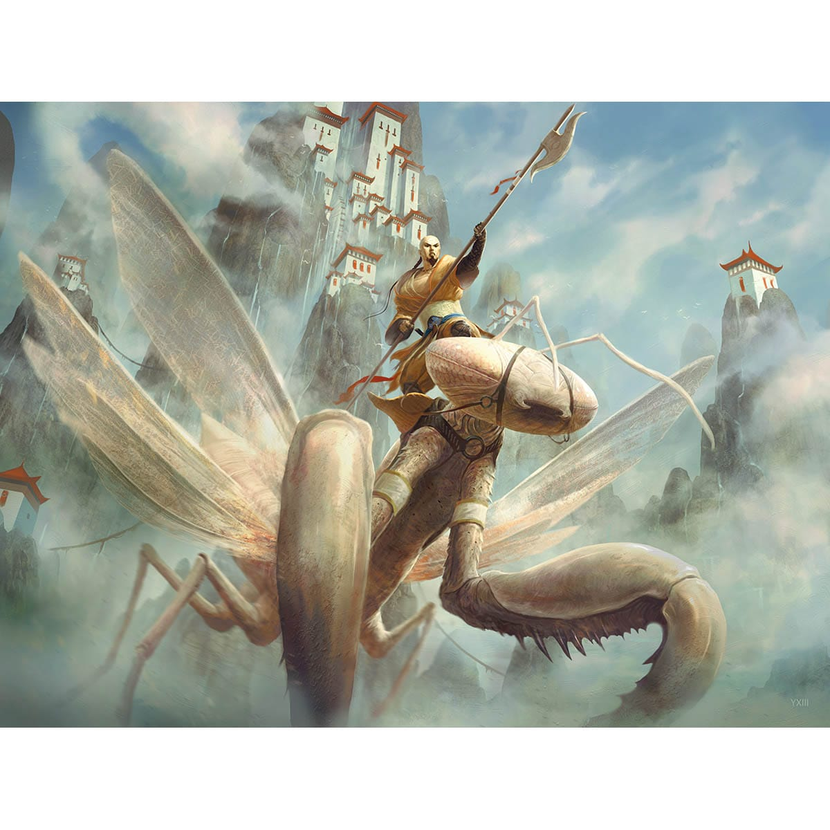 Mantis Rider Print - Print - Original Magic Art - Accessories for Magic the Gathering and other card games