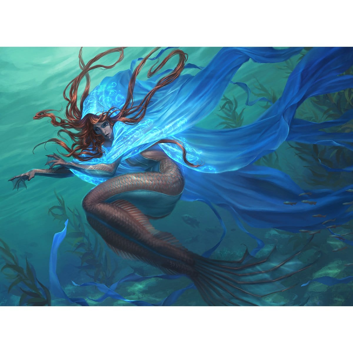Mantle of Tides Print - Print - Original Magic Art - Accessories for Magic the Gathering and other card games