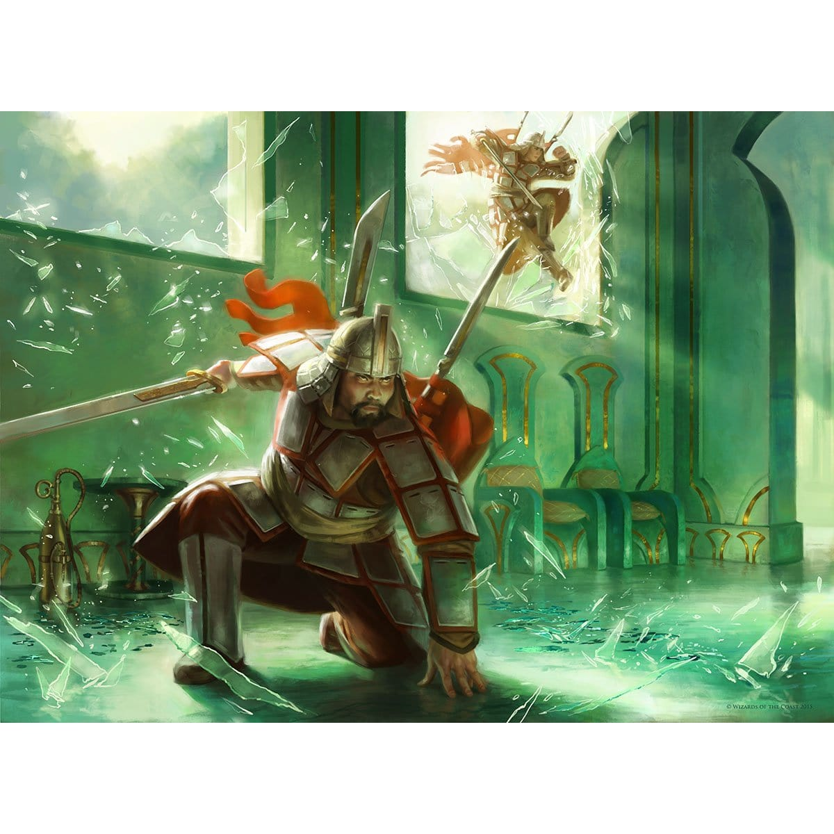Mardu Strike Leader Print - Print - Original Magic Art - Accessories for Magic the Gathering and other card games