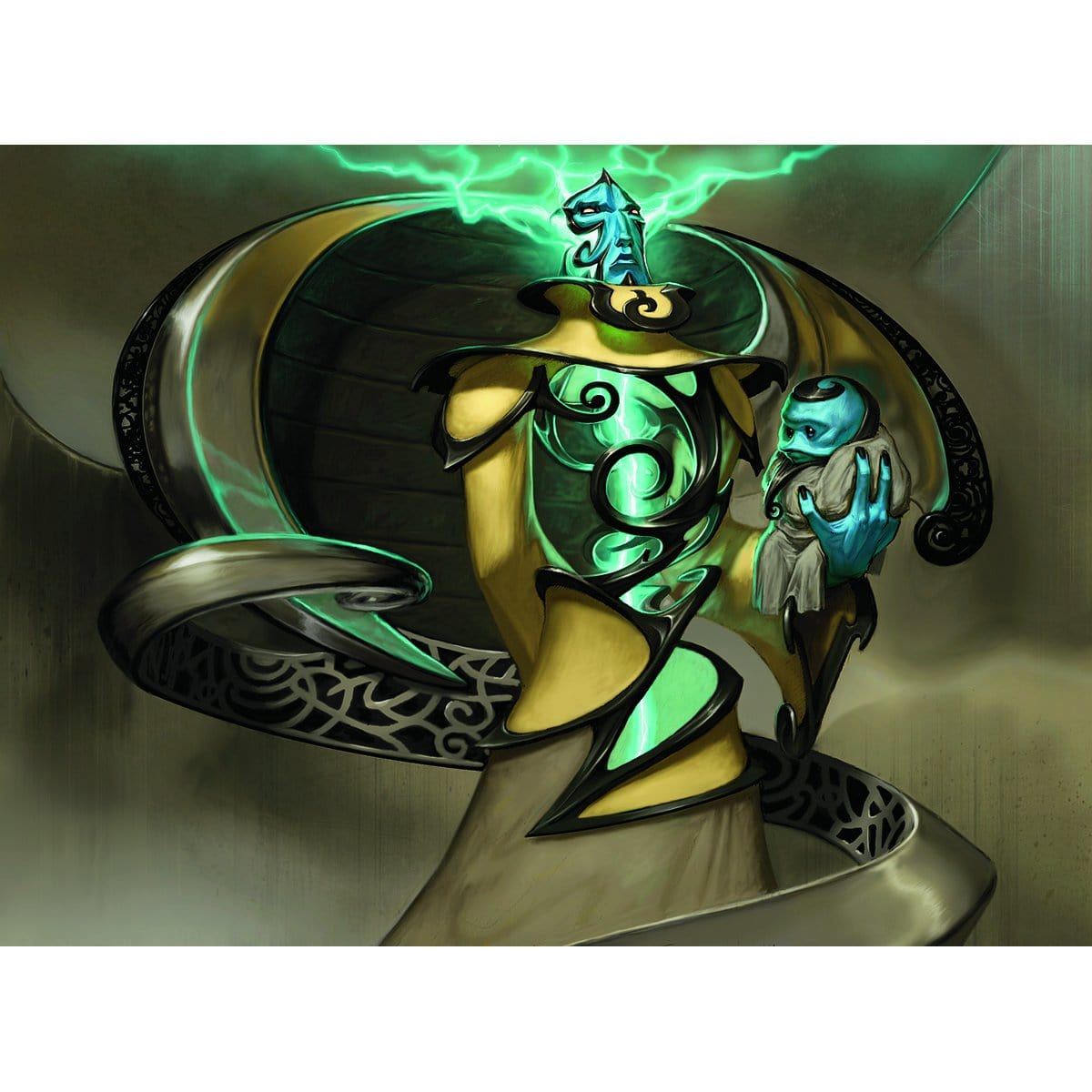 Master of Etherium Print - Print - Original Magic Art - Accessories for Magic the Gathering and other card games