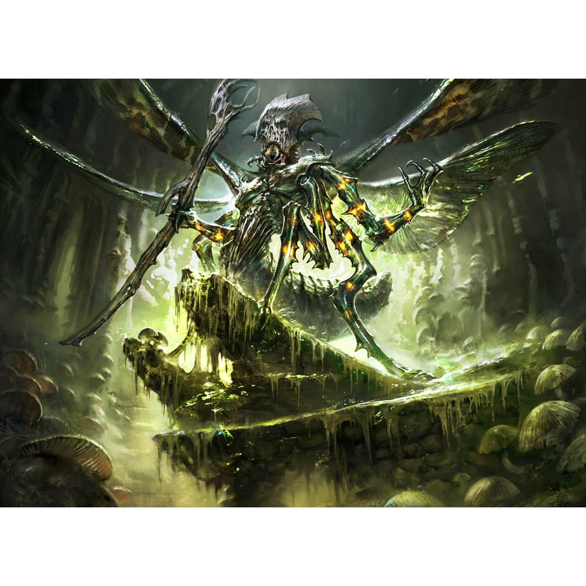 Mazirek, Kraul Death Priest Print - Print - Original Magic Art - Accessories for Magic the Gathering and other card games