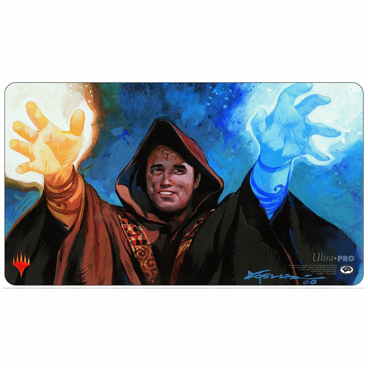 Meddling Mage Playmat - Playmat - Original Magic Art - Accessories for Magic the Gathering and other card games