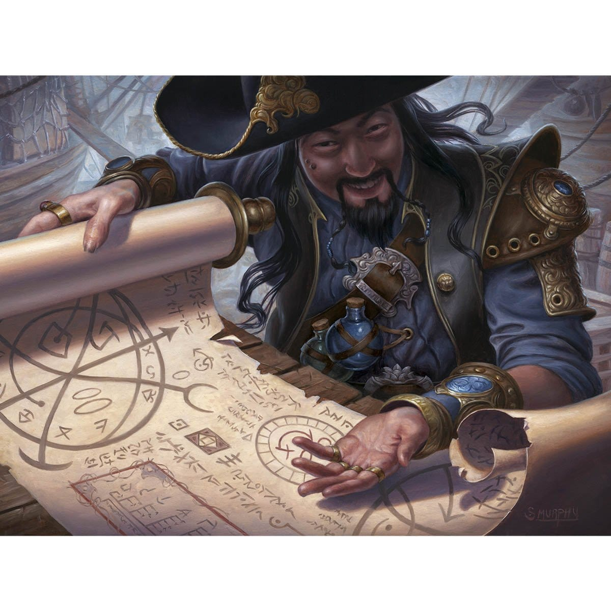 Merchant Scroll Print - Print - Original Magic Art - Accessories for Magic the Gathering and other card games