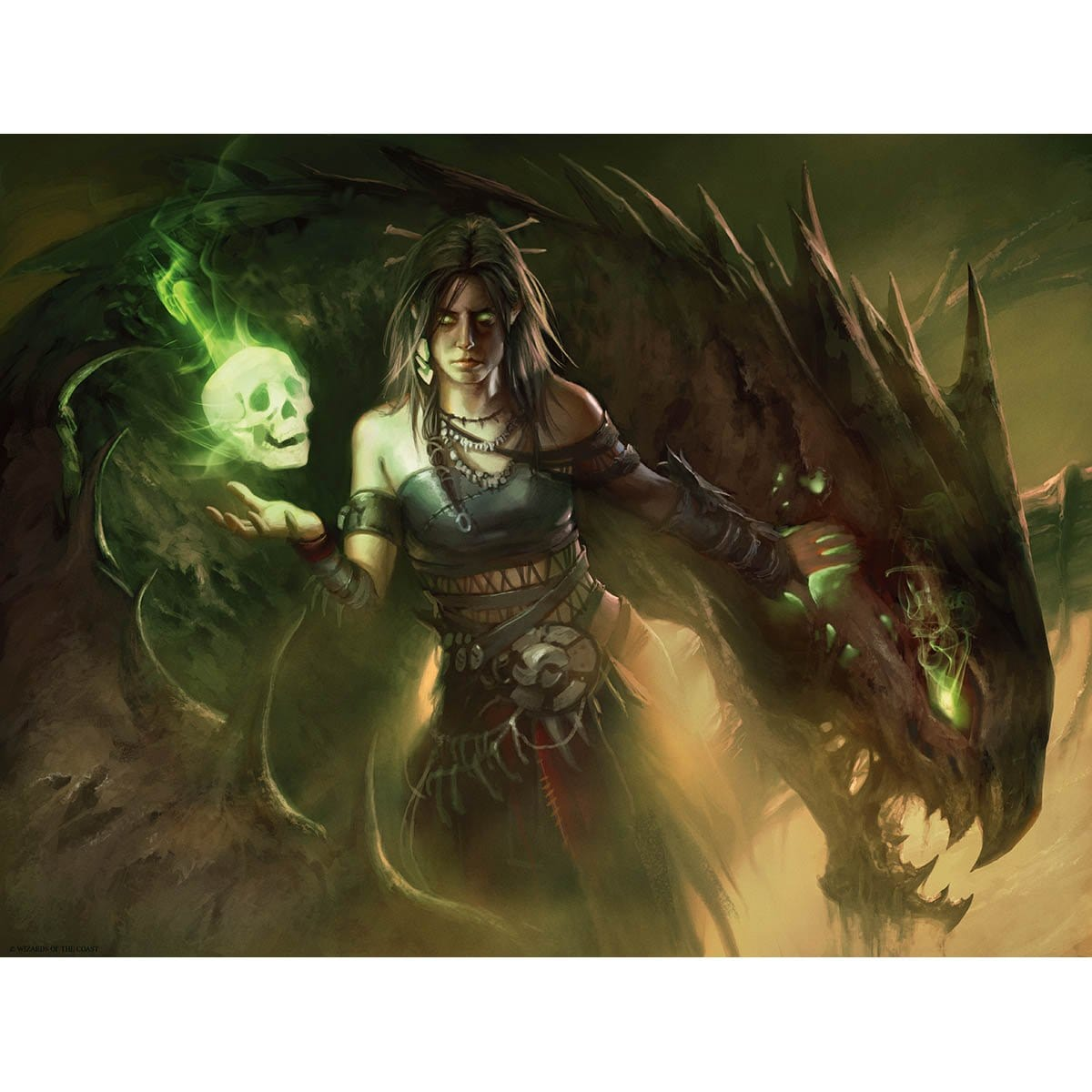 Meren of Clan Nel Toth Print - Print - Original Magic Art - Accessories for Magic the Gathering and other card games