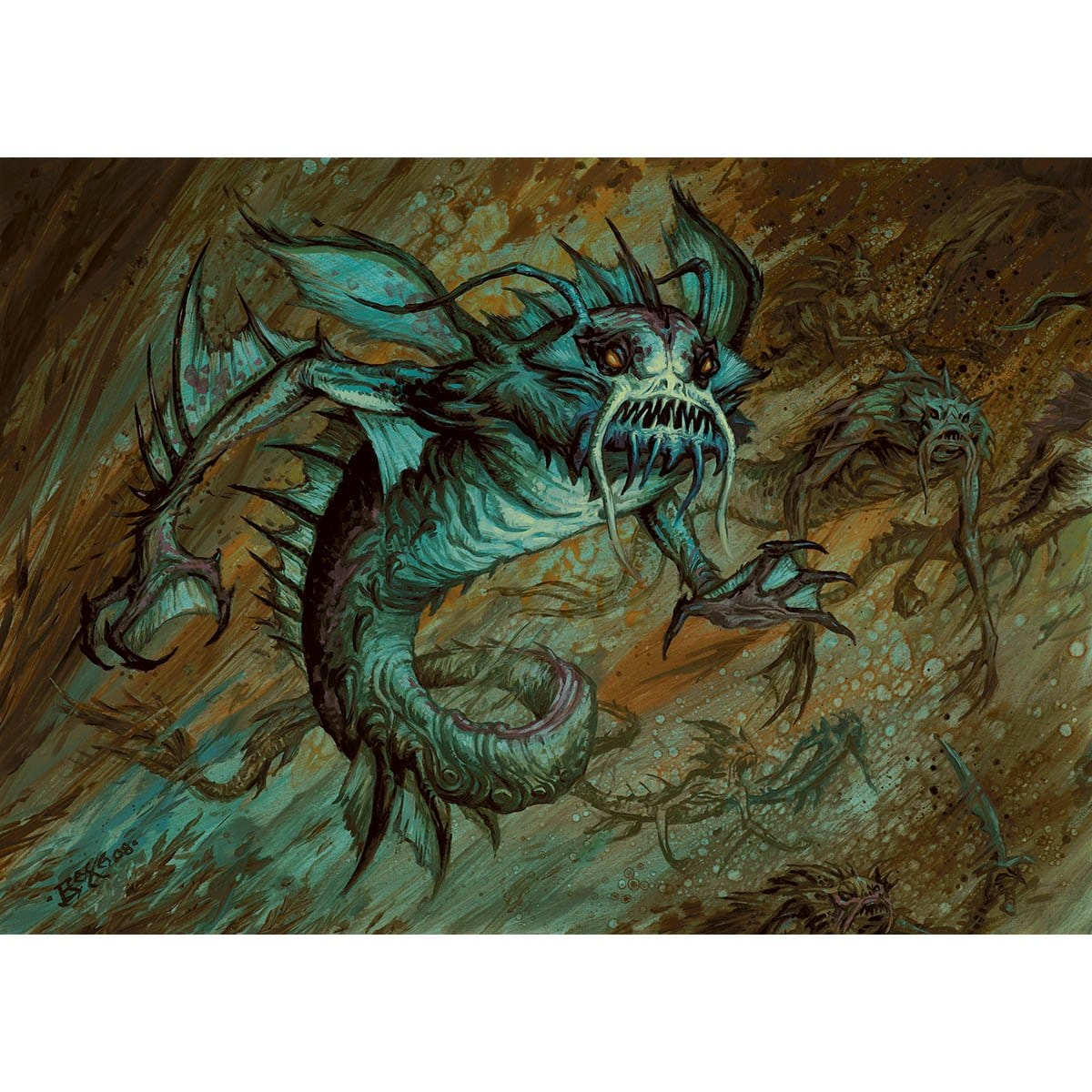 Merfolk Reejery Print - Print - Original Magic Art - Accessories for Magic the Gathering and other card games