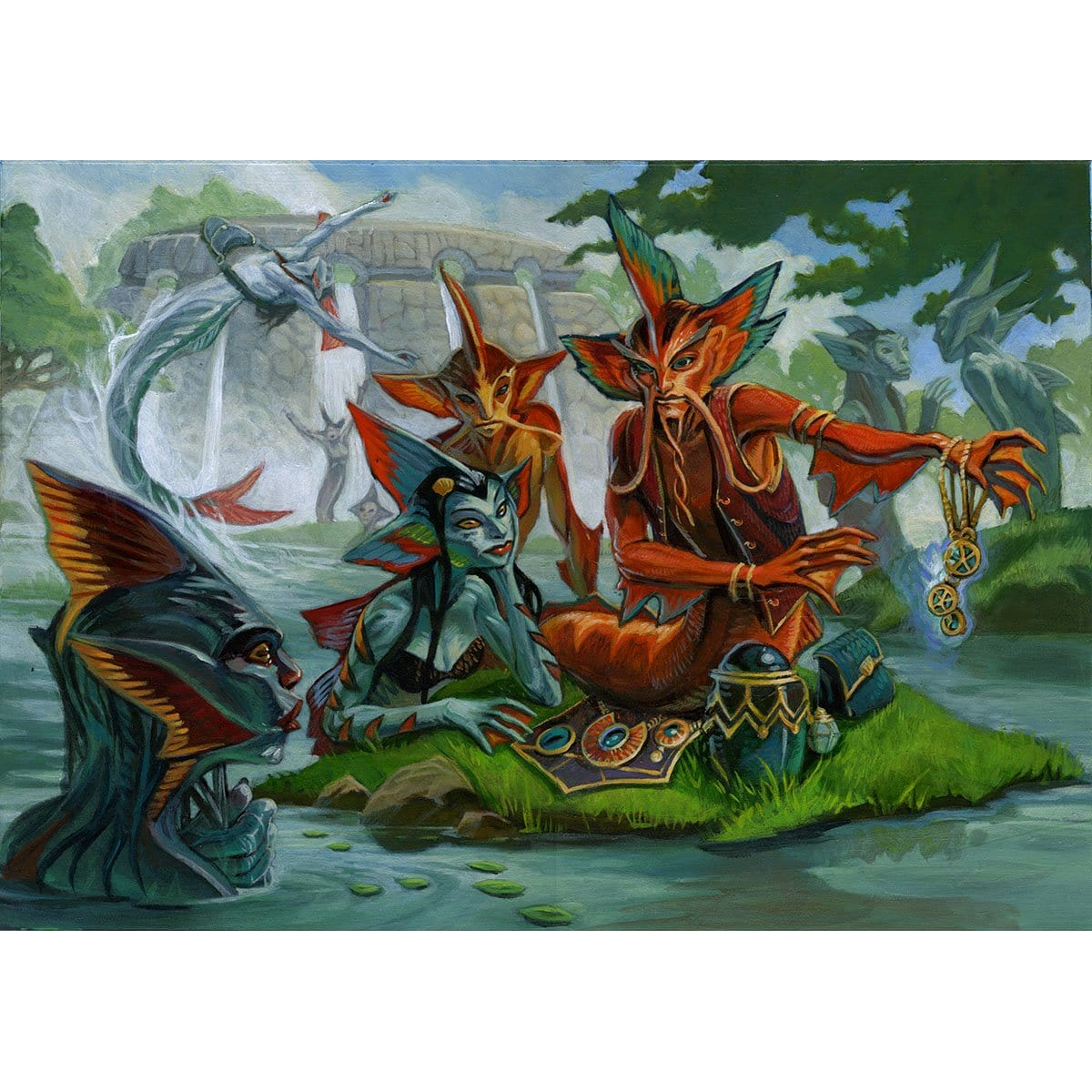 Merrow Commerce Print - Print - Original Magic Art - Accessories for Magic the Gathering and other card games