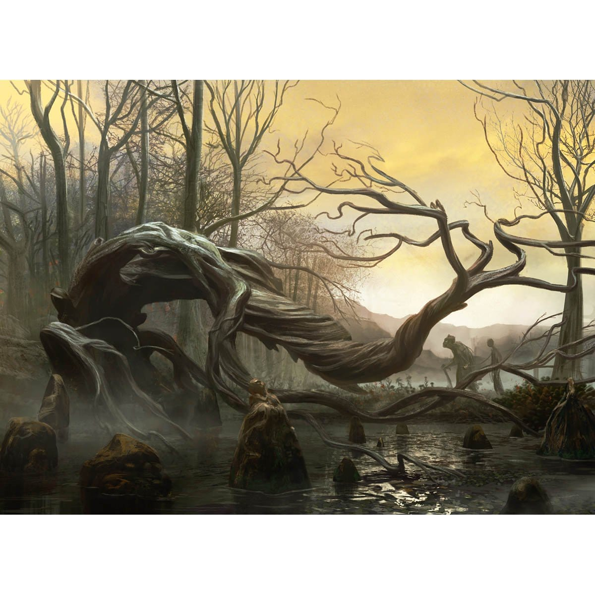 Swamp (Magic 2013) Print - Print - Original Magic Art - Accessories for Magic the Gathering and other card games