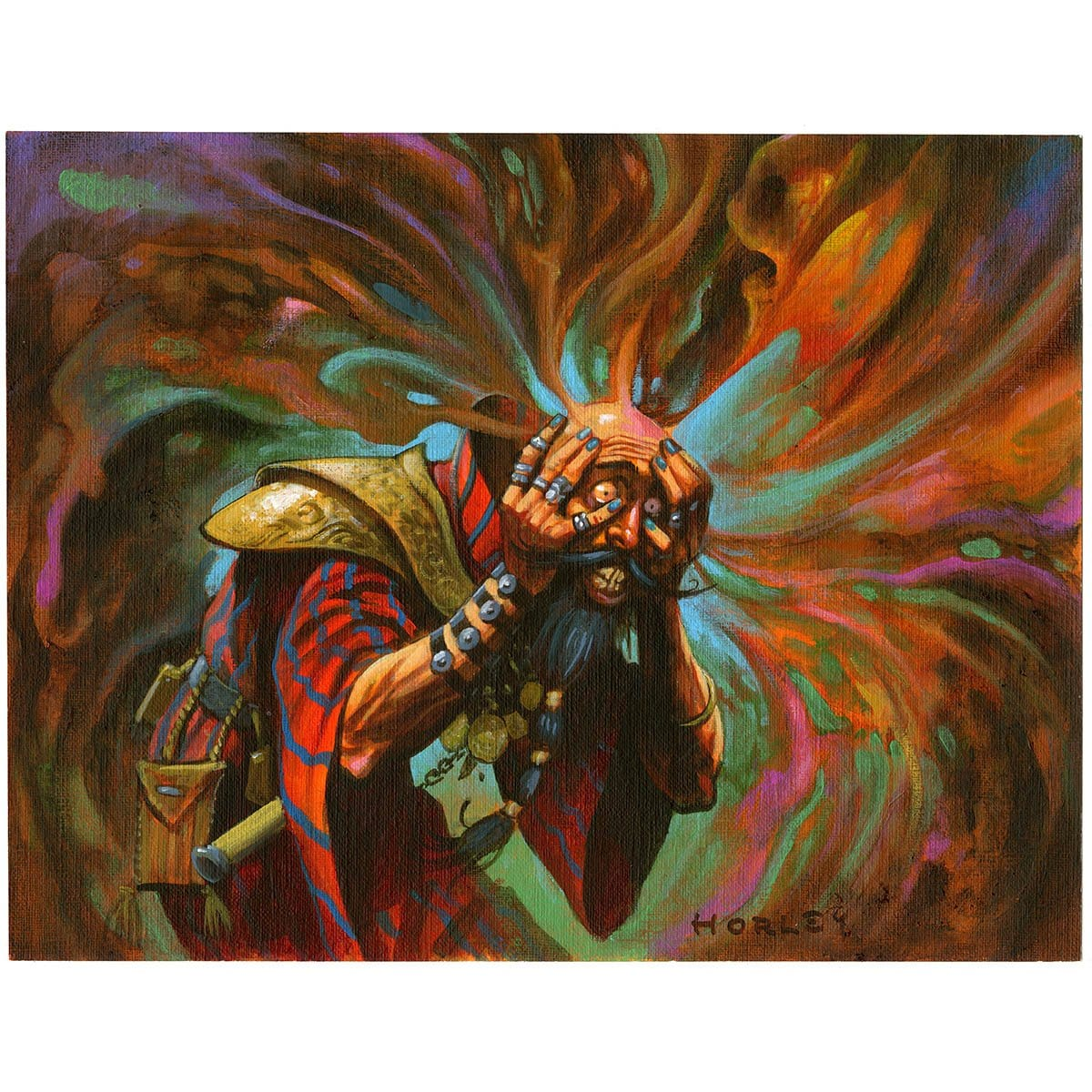 Mindmoil Print - Print - Original Magic Art - Accessories for Magic the Gathering and other card games