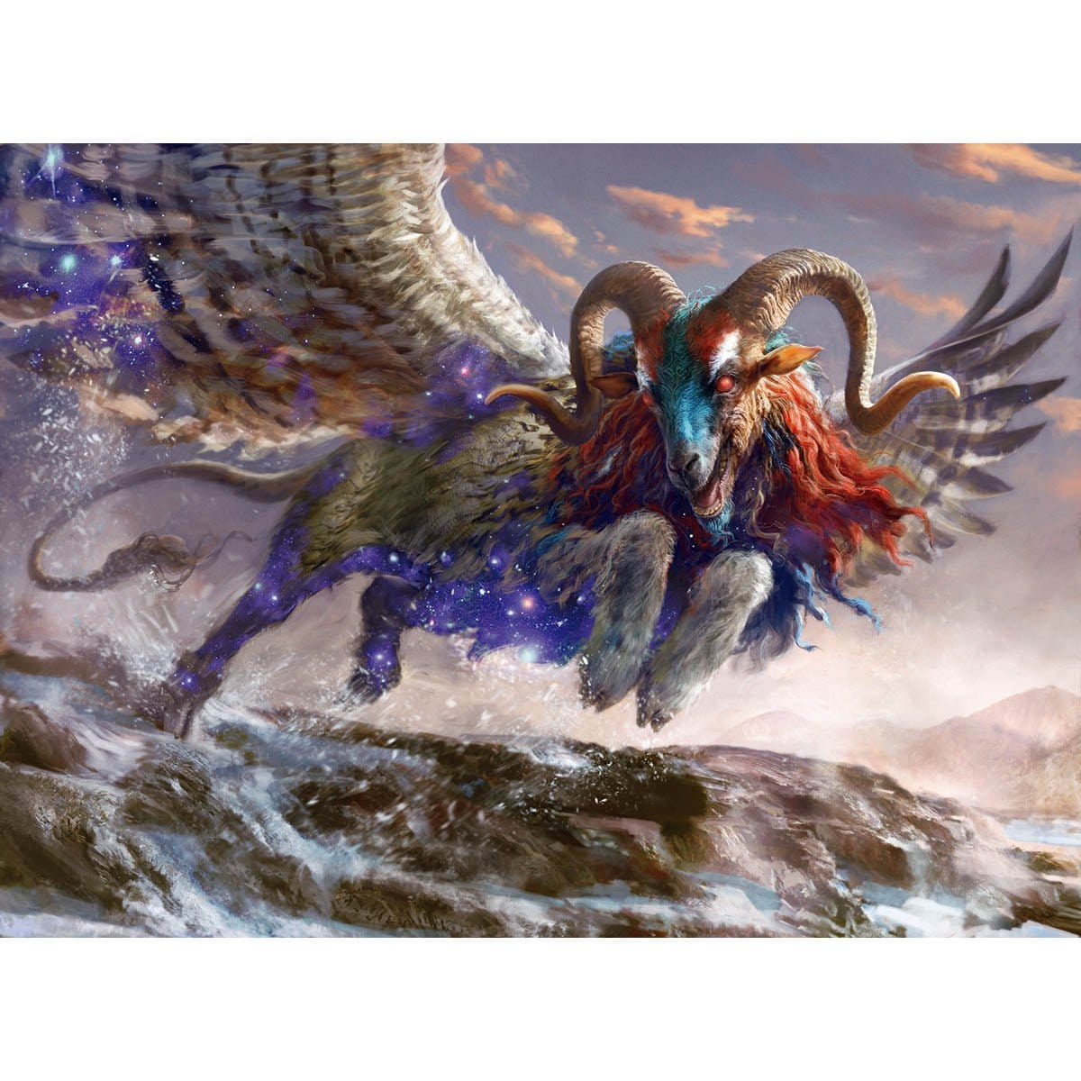 Mischievous Chimera Print - Print - Original Magic Art - Accessories for Magic the Gathering and other card games