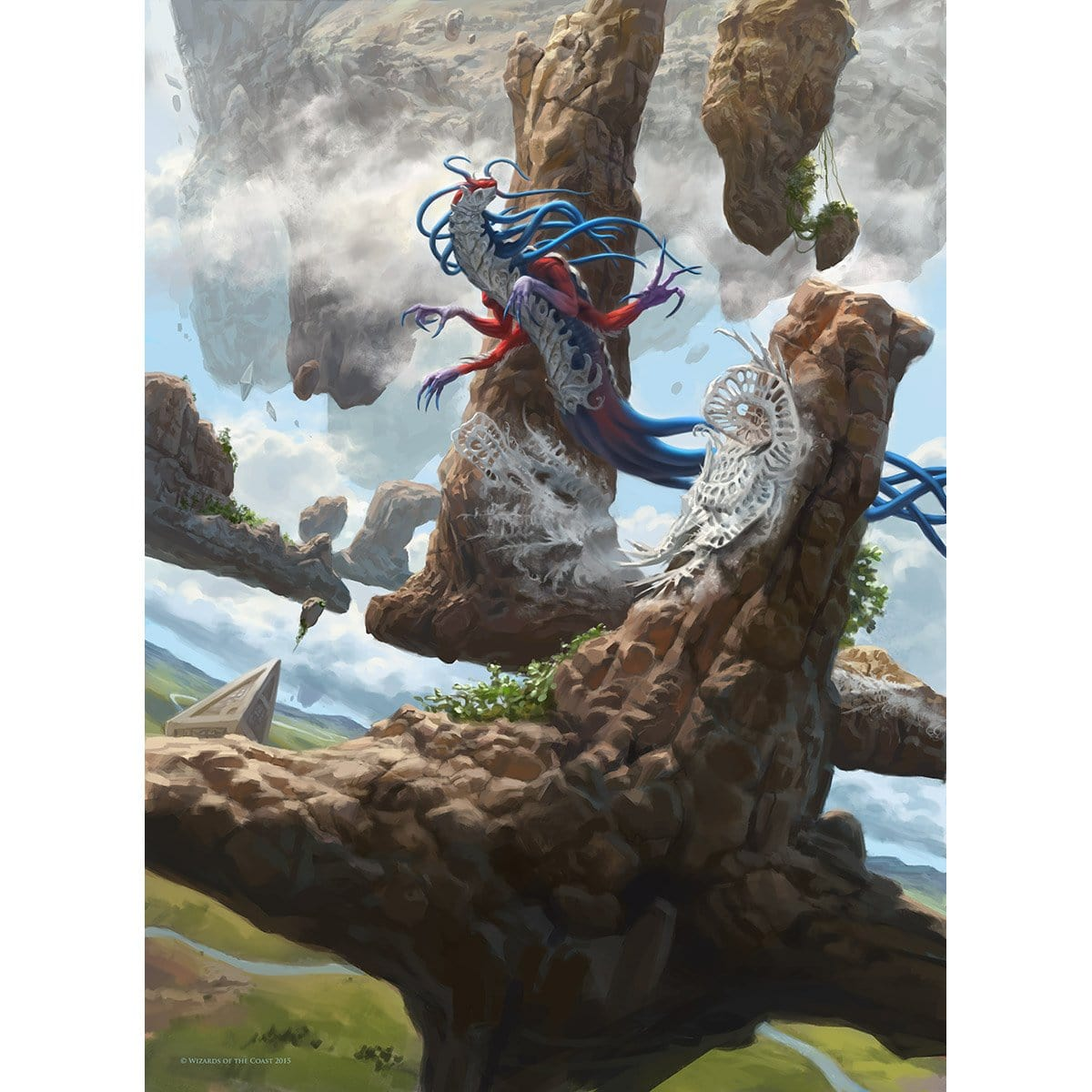 Mist Intruder Print - Print - Original Magic Art - Accessories for Magic the Gathering and other card games