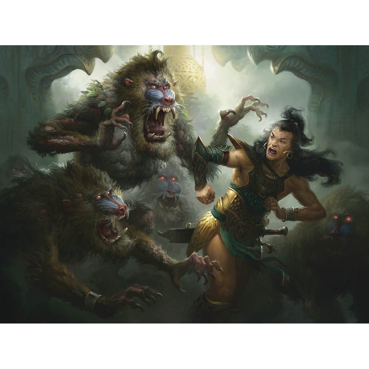 Mob Rule Print - Print - Original Magic Art - Accessories for Magic the Gathering and other card games