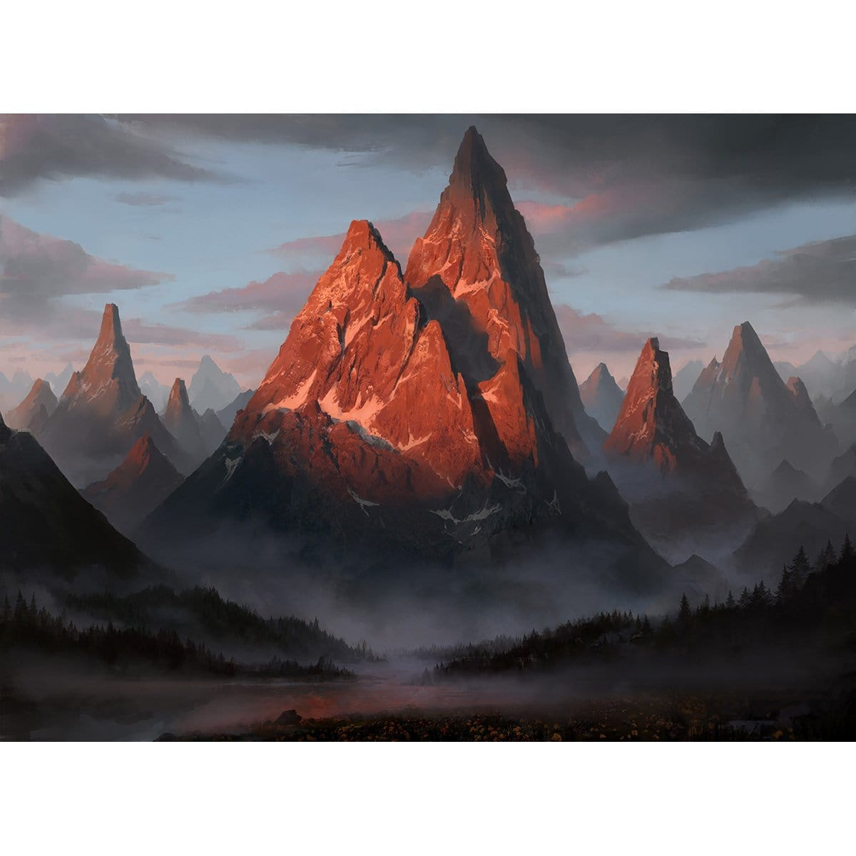 Mountain (Core Set 2020) Print