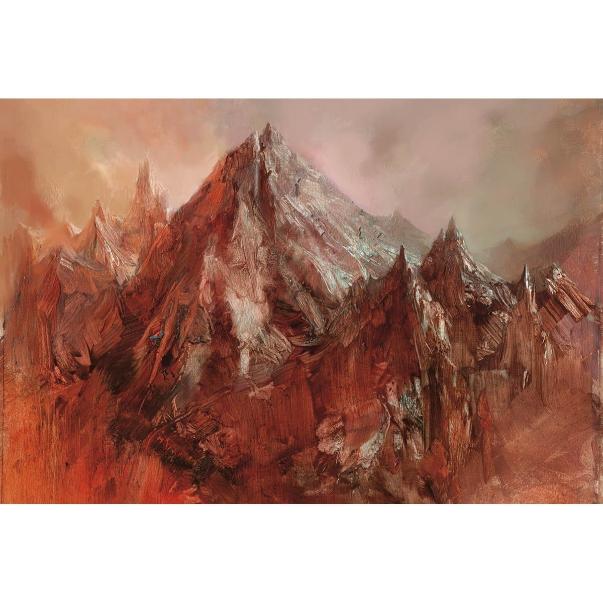 Mountain (Magic 2010) Print - Print - Original Magic Art - Accessories for Magic the Gathering and other card games
