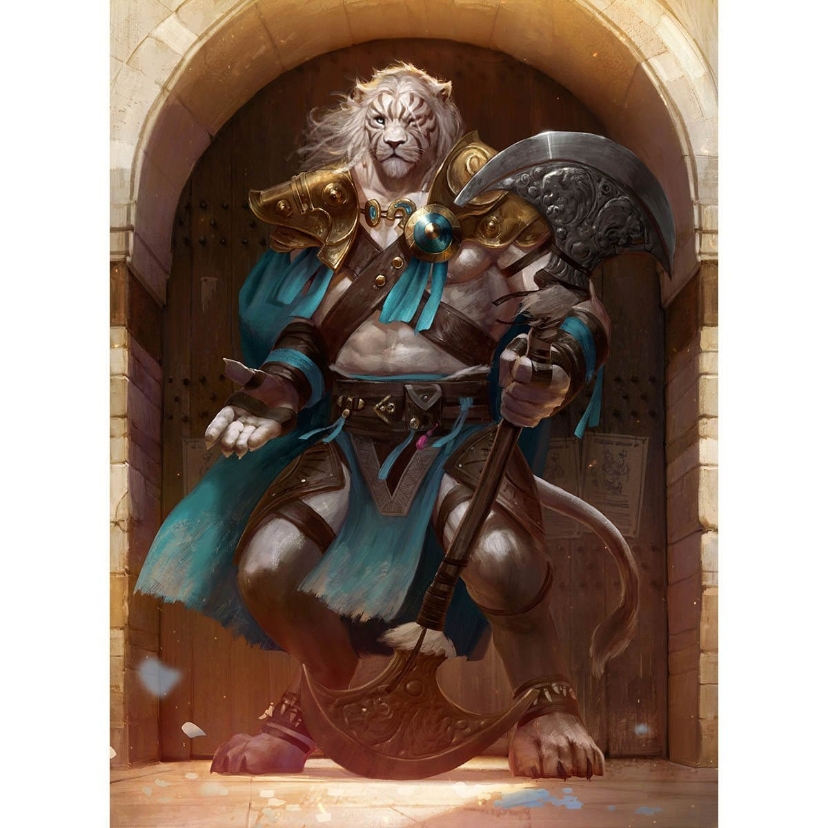Ajani, Mentor of Heroes Print - Print - Original Magic Art - Accessories for Magic the Gathering and other card games
