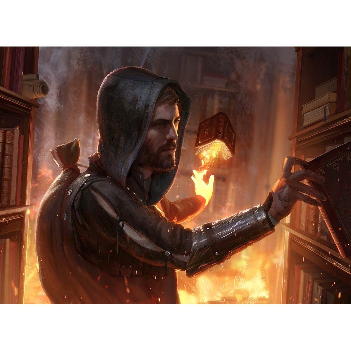 Dismissive Pyromancer Print - Print - Original Magic Art - Accessories for Magic the Gathering and other card games