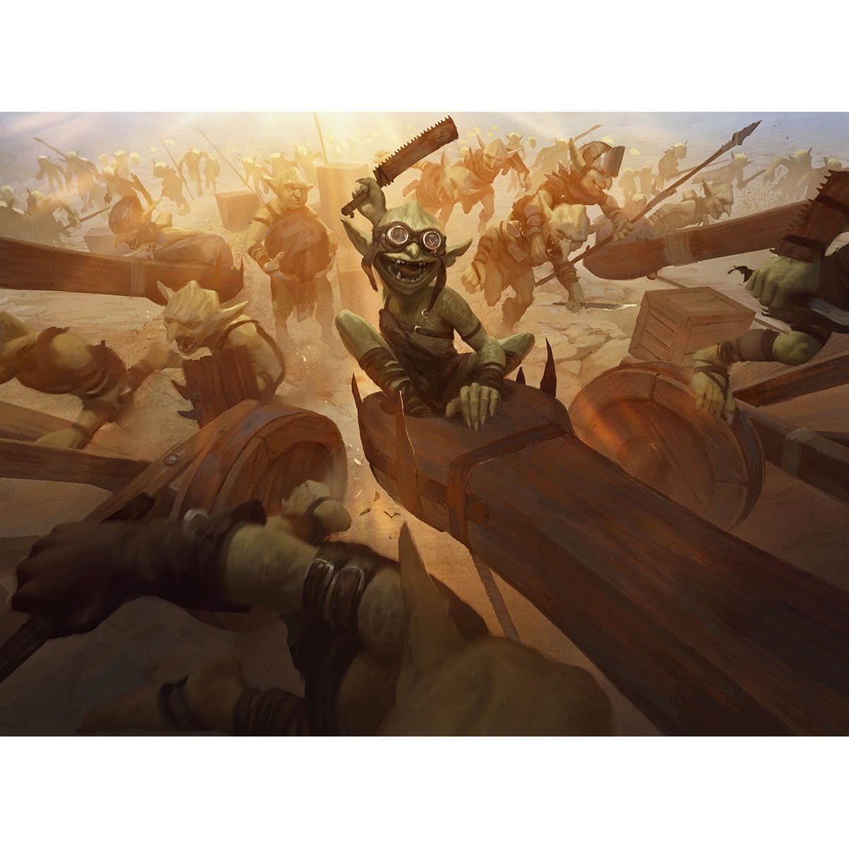 Goblin Barrage Print - Print - Original Magic Art - Accessories for Magic the Gathering and other card games
