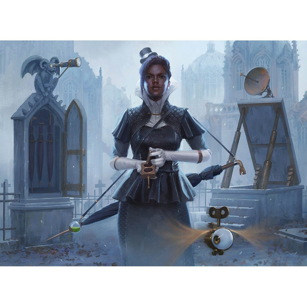 Graveyard Busybody Print - Print - Original Magic Art - Accessories for Magic the Gathering and other card games
