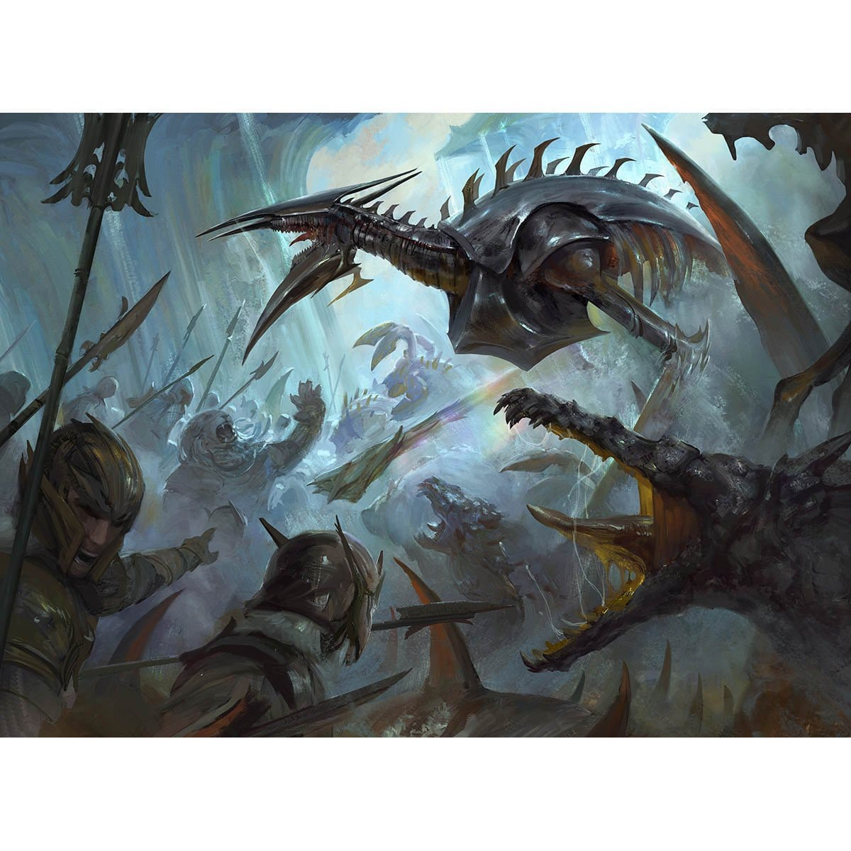 Mirrodin Besieged Print - Print - Original Magic Art - Accessories for Magic the Gathering and other card games