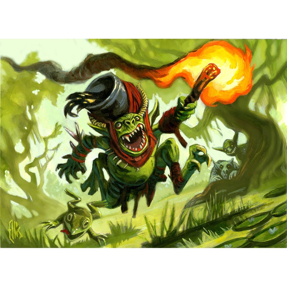 Mudbutton Torchrunner Print - Print - Original Magic Art - Accessories for Magic the Gathering and other card games
