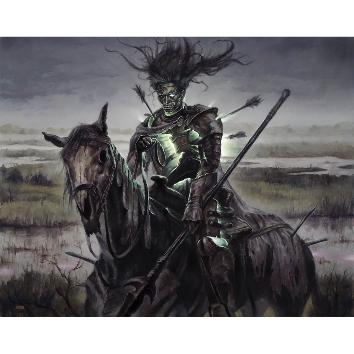 Murderous Rider Print - Print - Original Magic Art - Accessories for Magic the Gathering and other card games