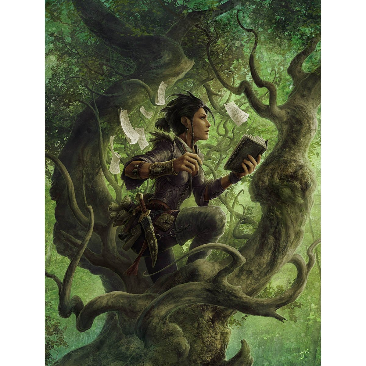 Mwonvuli Beast Tracker Print - Print - Original Magic Art - Accessories for Magic the Gathering and other card games