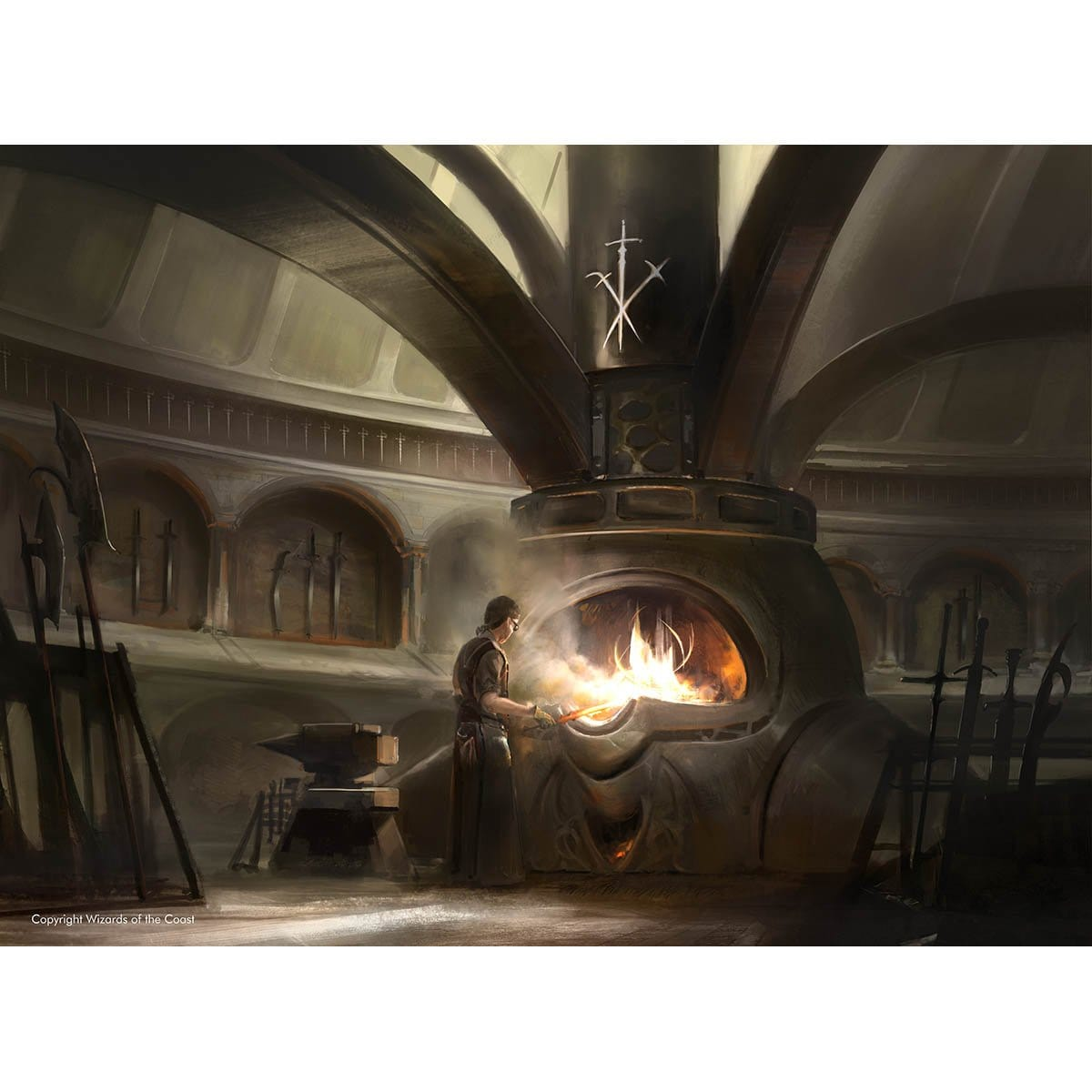 Mystic Forge Print - Print - Original Magic Art - Accessories for Magic the Gathering and other card games
