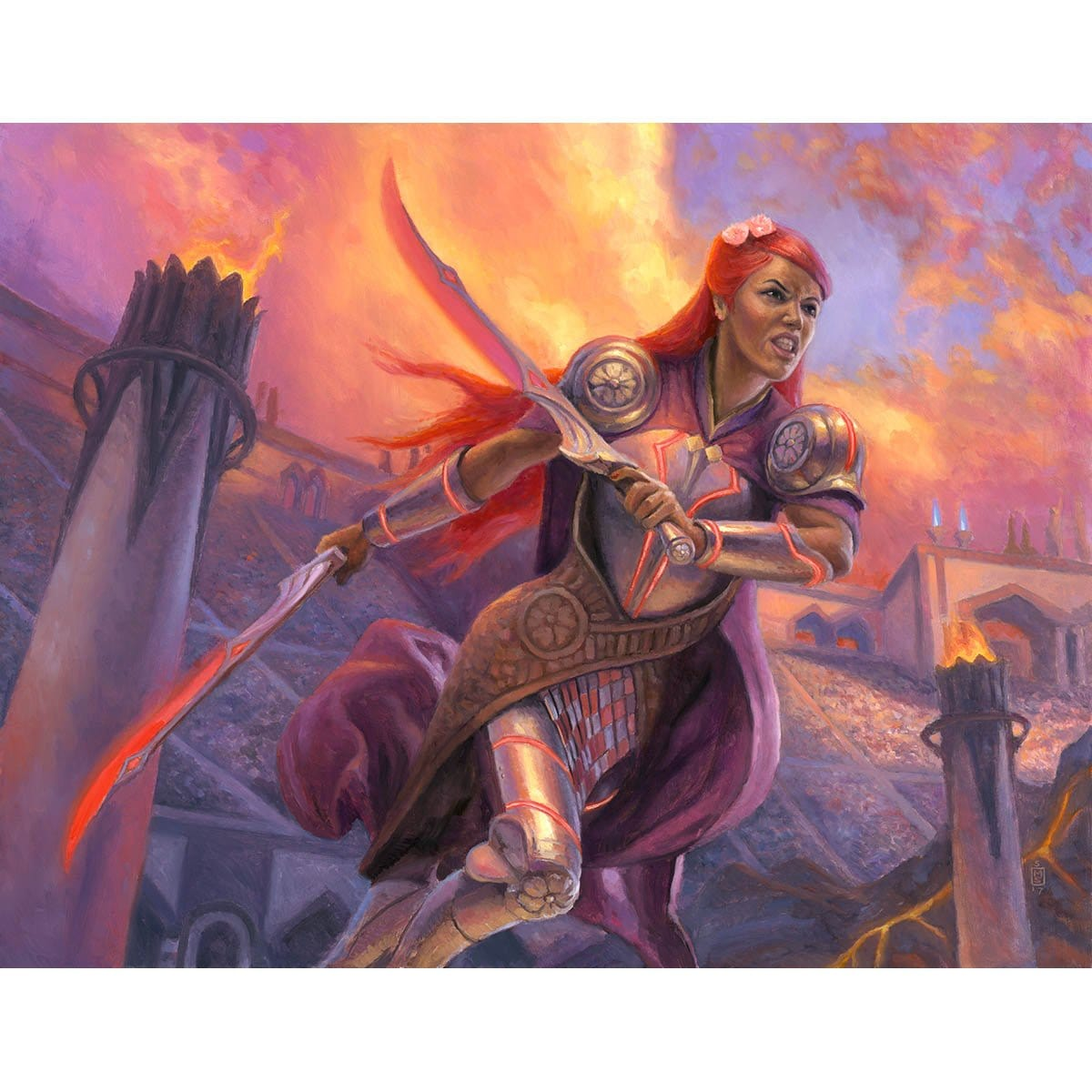 Najeela, the Blade-Blossom Print - Print - Original Magic Art - Accessories for Magic the Gathering and other card games